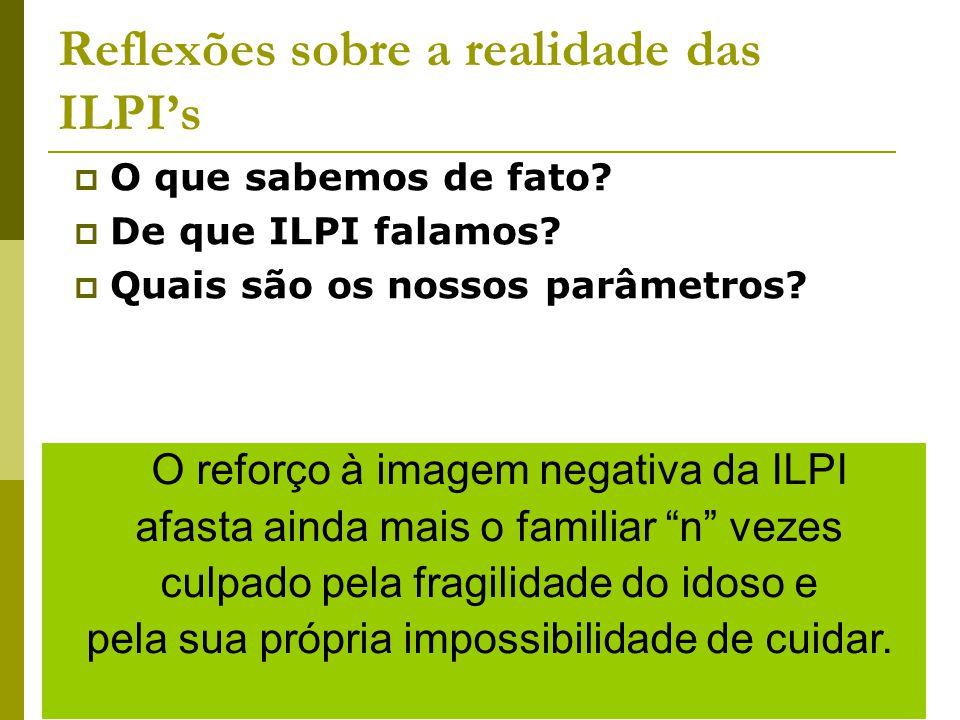 Reflexões sobre a realidade das ILPI's