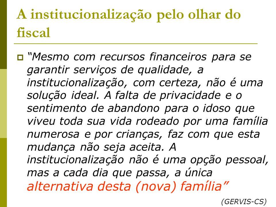 A institucionalização pelo olhar do fiscal