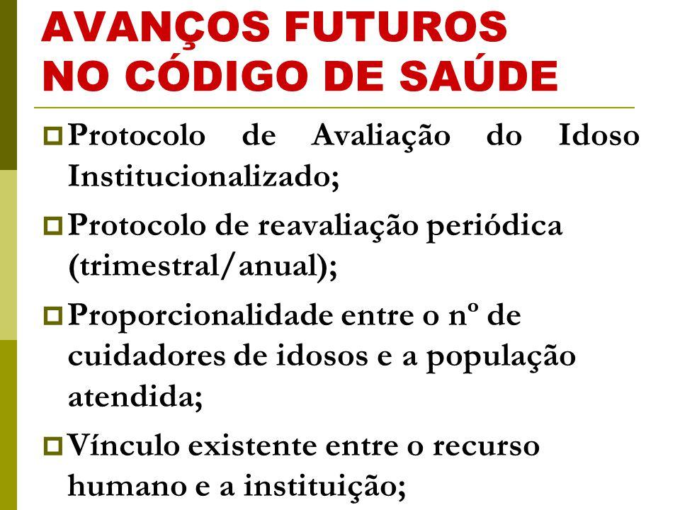 AVANÇOS FUTUROS NO CÓDIGO DE SAÚDE
