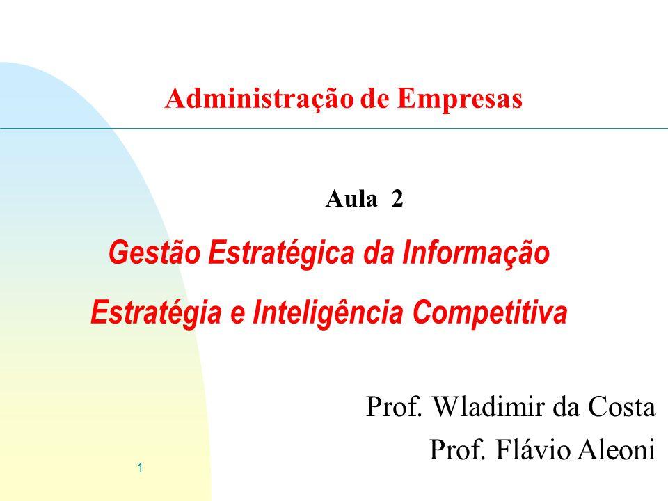 Gestão Estratégica da Informação Estratégia e Inteligência Competitiva
