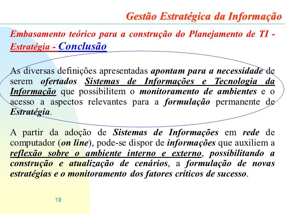 Gestão Estratégica da Informação