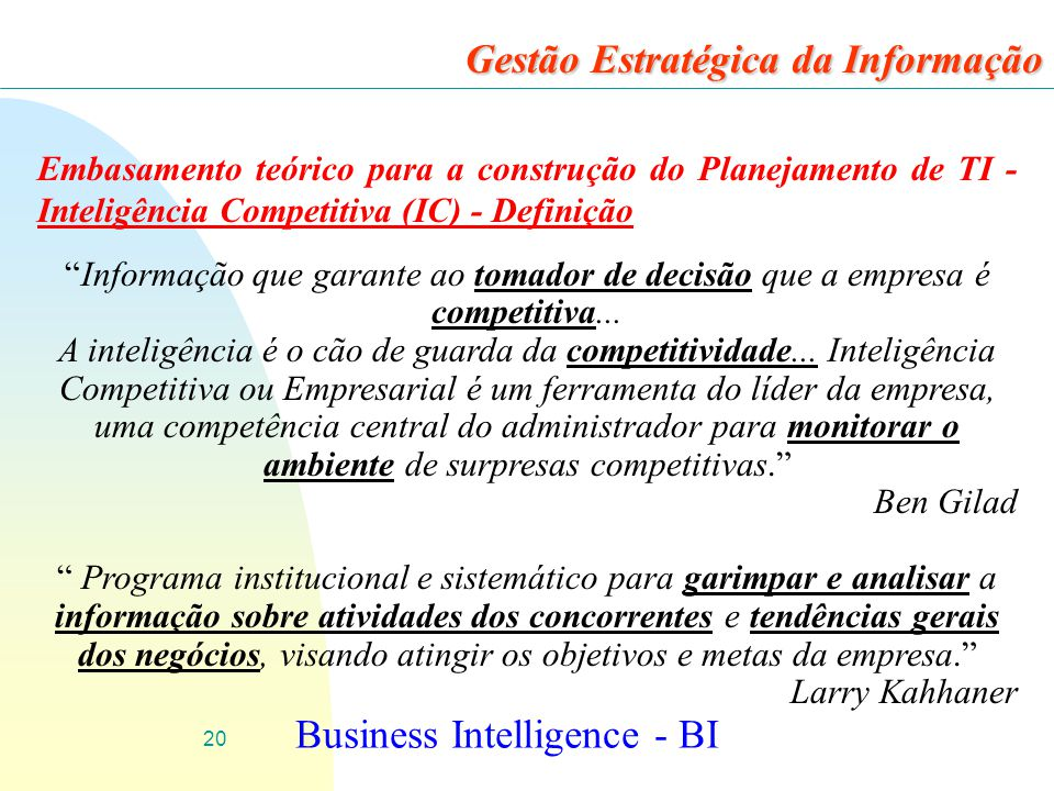 Business Intelligence - BI
