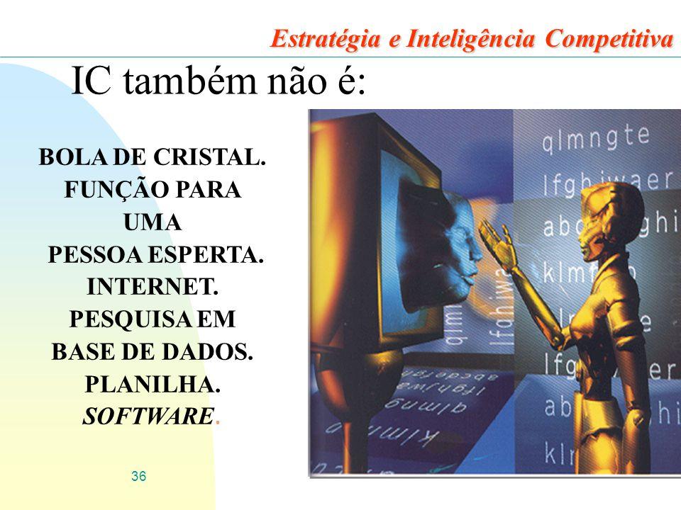 IC também não é: Estratégia e Inteligência Competitiva