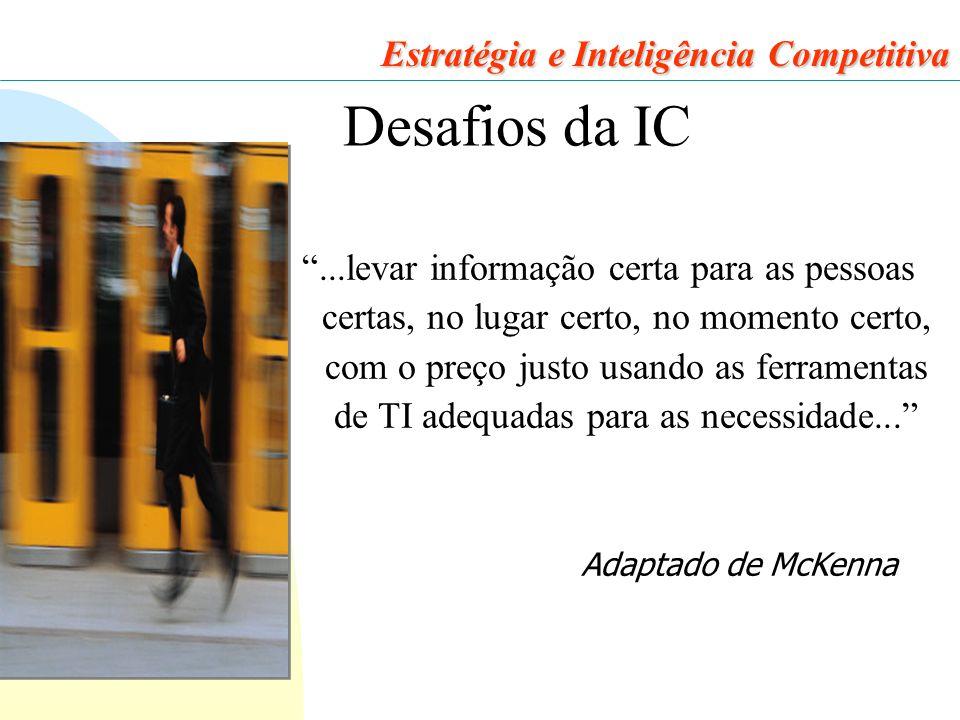 Desafios da IC Estratégia e Inteligência Competitiva