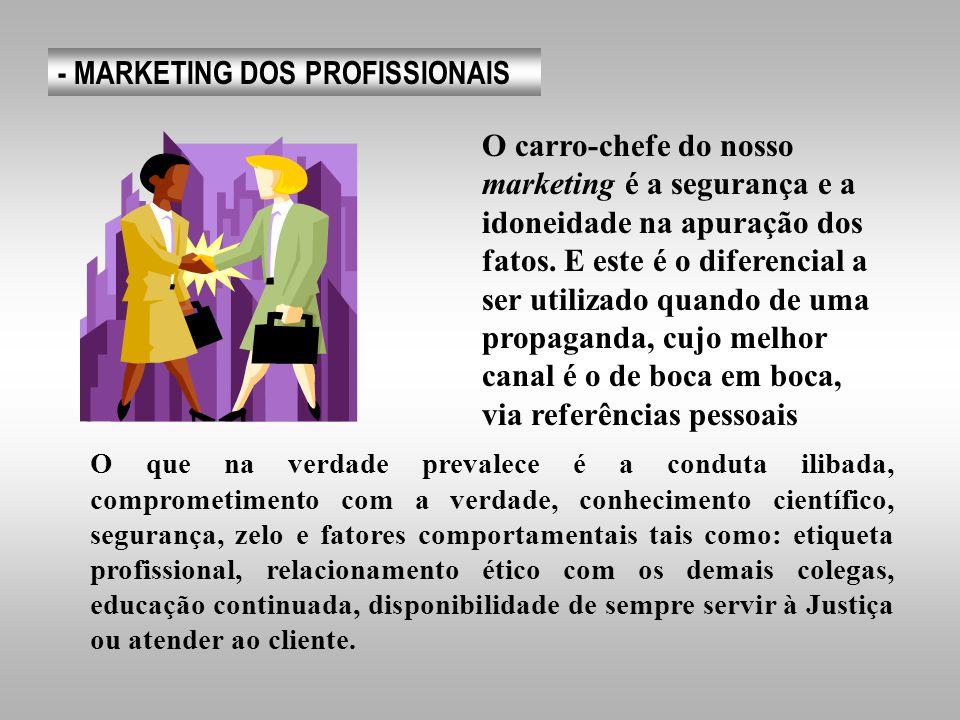 - MARKETING DOS PROFISSIONAIS