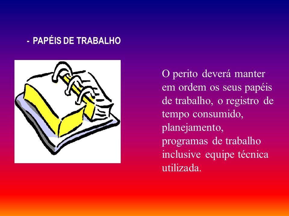 - PAPÉIS DE TRABALHO