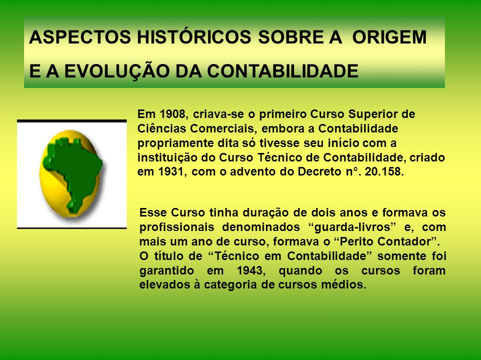 ASPECTOS HISTÓRICOS SOBRE A ORIGEM E A EVOLUÇÃO DA CONTABILIDADE
