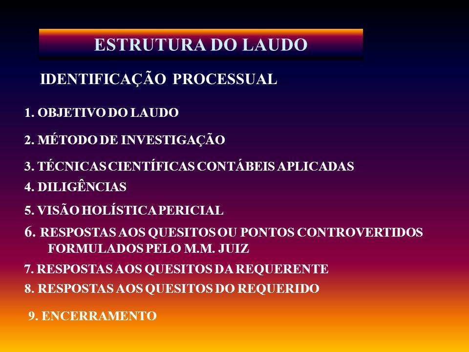 ESTRUTURA DO LAUDO IDENTIFICAÇÃO PROCESSUAL