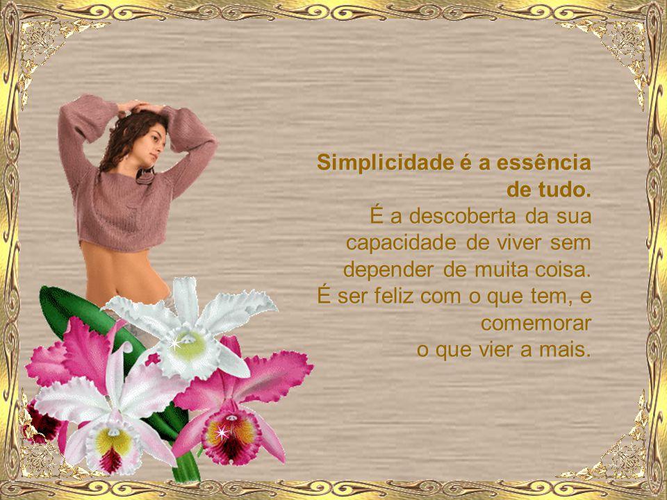 Simplicidade é a essência de tudo