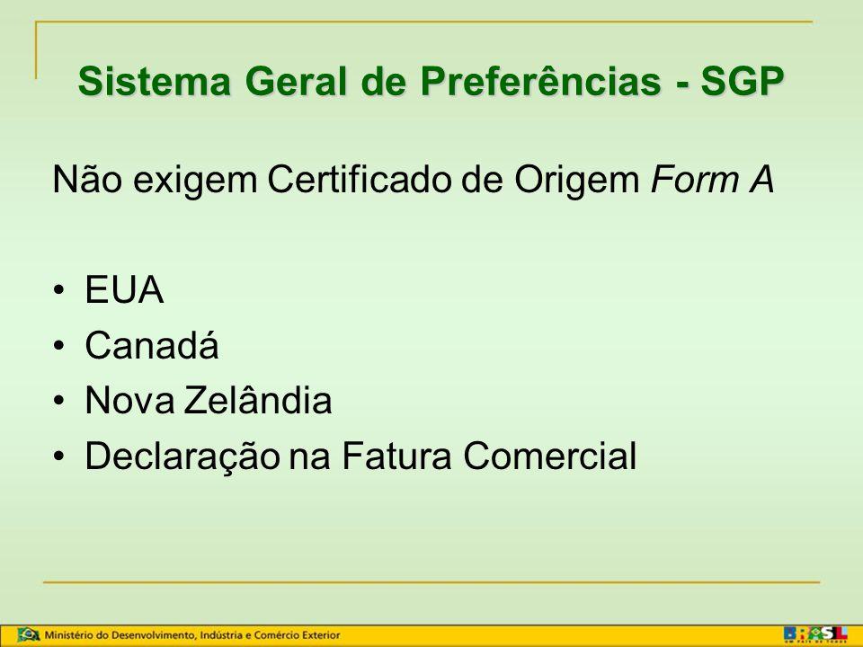 Sistema Geral de Preferências - SGP