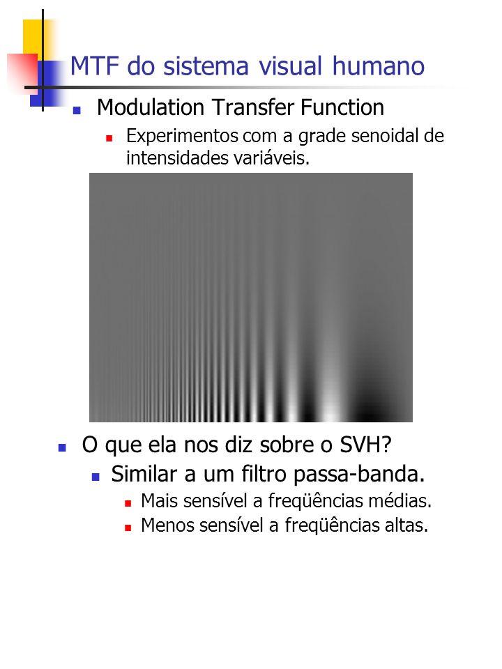 MTF do sistema visual humano