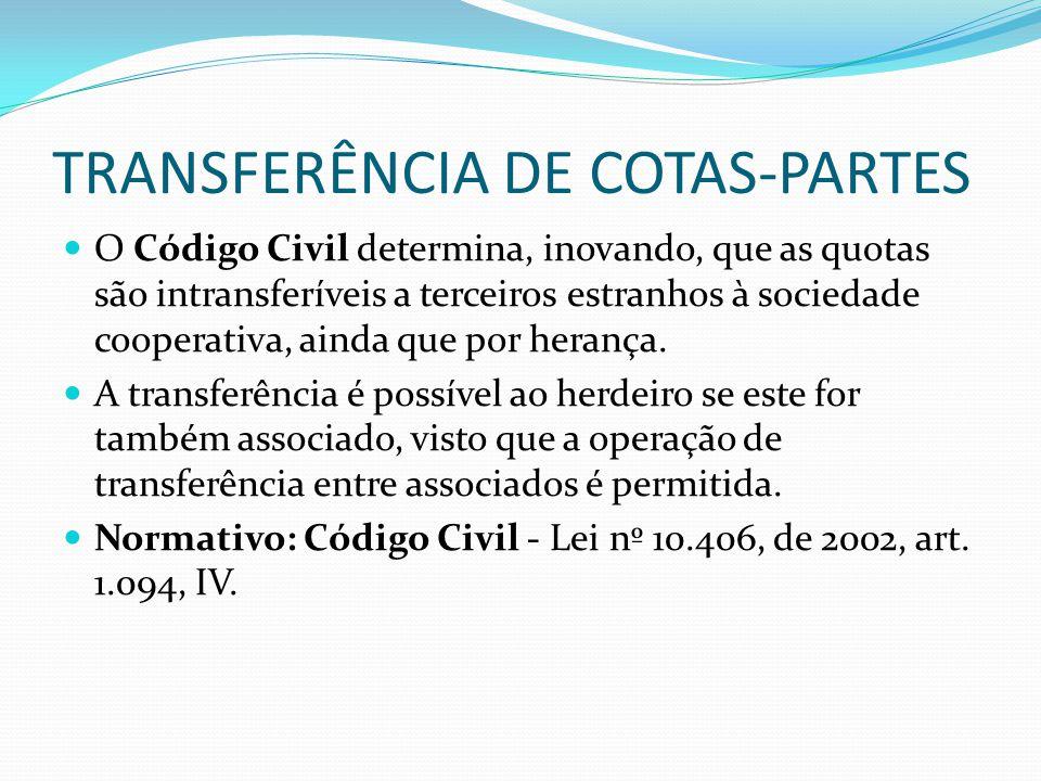 TRANSFERÊNCIA DE COTAS-PARTES