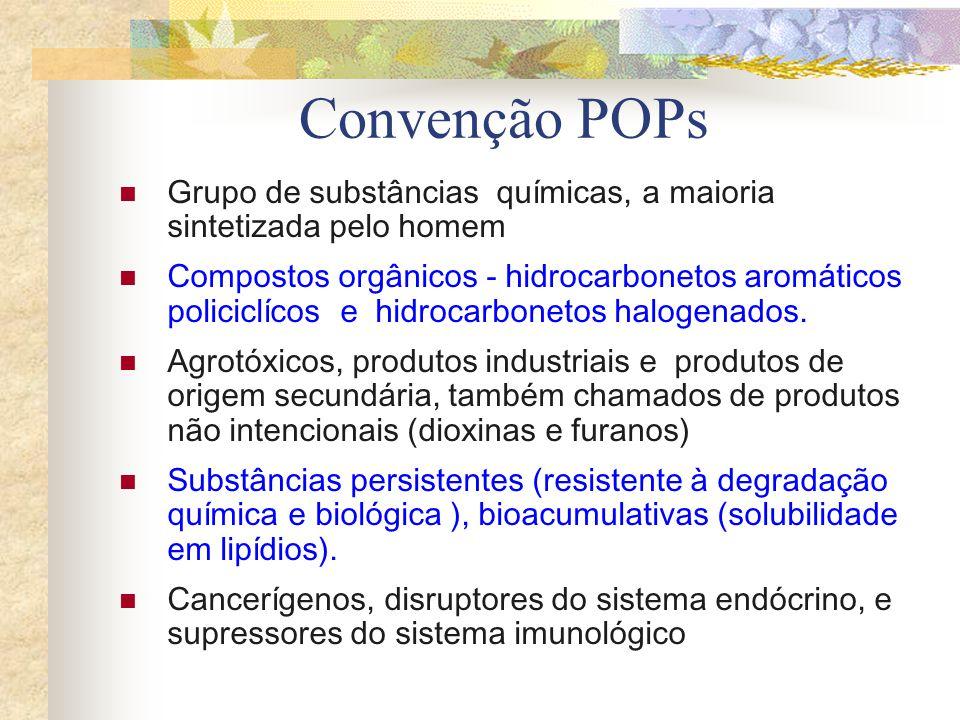 Convenção POPs Grupo de substâncias químicas, a maioria sintetizada pelo homem.