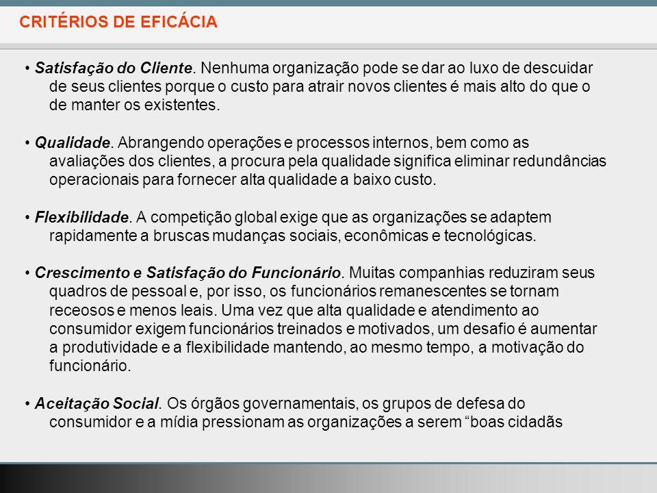 CRITÉRIOS DE EFICÁCIA