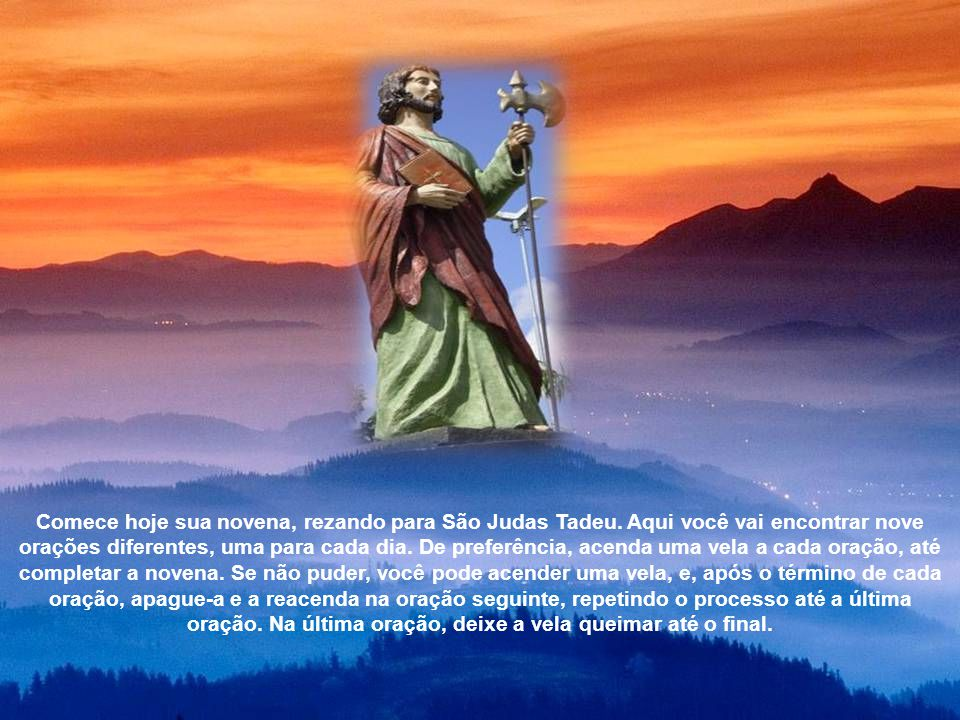 Comece hoje sua novena, rezando para São Judas Tadeu