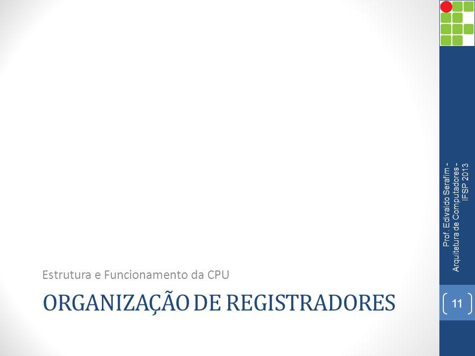 Organização de registradores