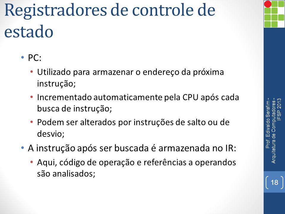 Registradores de controle de estado