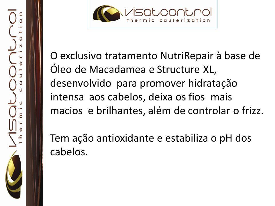 O exclusivo tratamento NutriRepair à base de Óleo de Macadamea e Structure XL, desenvolvido para promover hidratação intensa aos cabelos, deixa os fios mais macios e brilhantes, além de controlar o frizz.