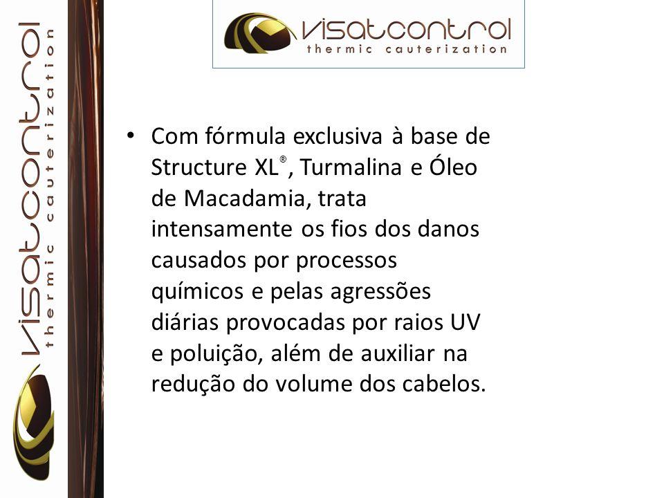 Com fórmula exclusiva à base de Structure XL®, Turmalina e Óleo de Macadamia, trata intensamente os fios dos danos causados por processos químicos e pelas agressões diárias provocadas por raios UV e poluição, além de auxiliar na redução do volume dos cabelos.