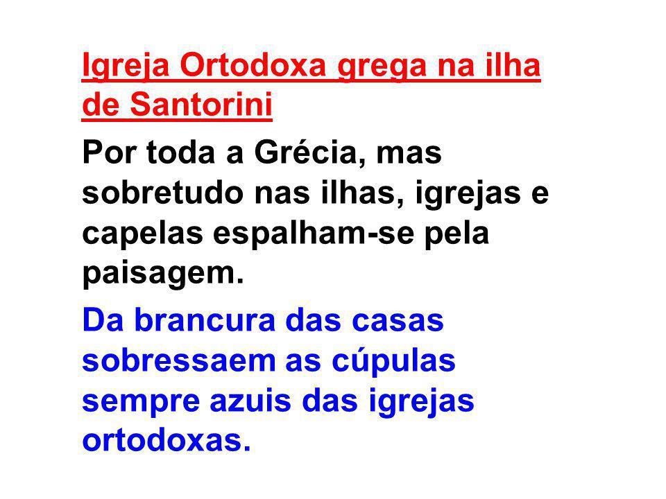 Igreja Ortodoxa grega na ilha de Santorini