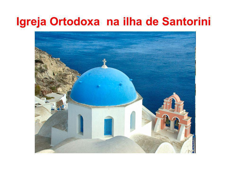 Igreja Ortodoxa na ilha de Santorini