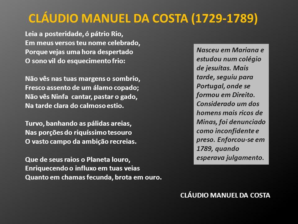 CLÁUDIO MANUEL DA COSTA (1729-1789)
