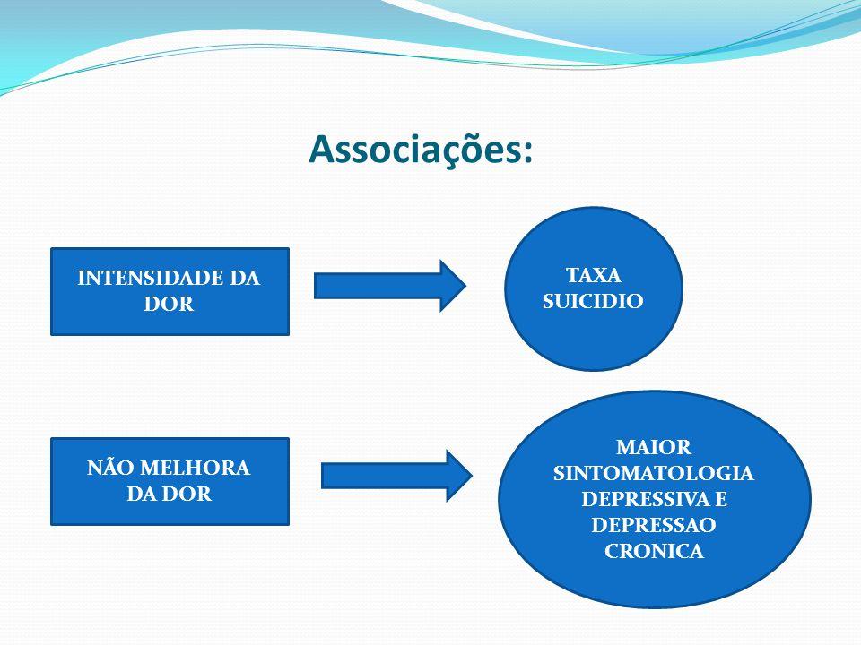 MAIOR SINTOMATOLOGIA DEPRESSIVA E DEPRESSAO CRONICA