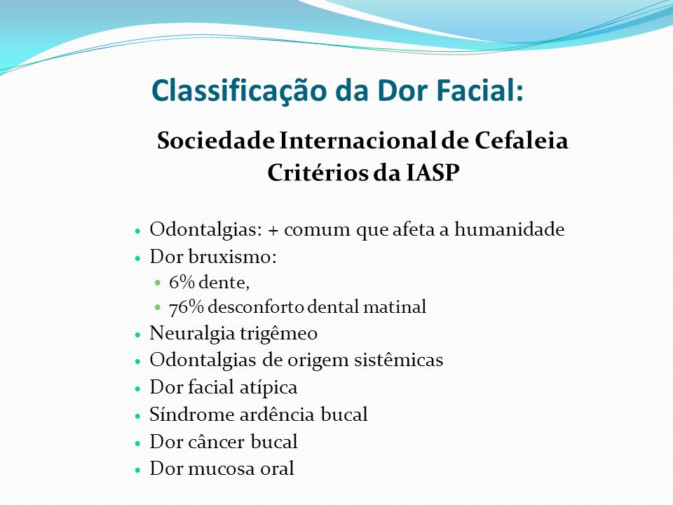 Classificação da Dor Facial:
