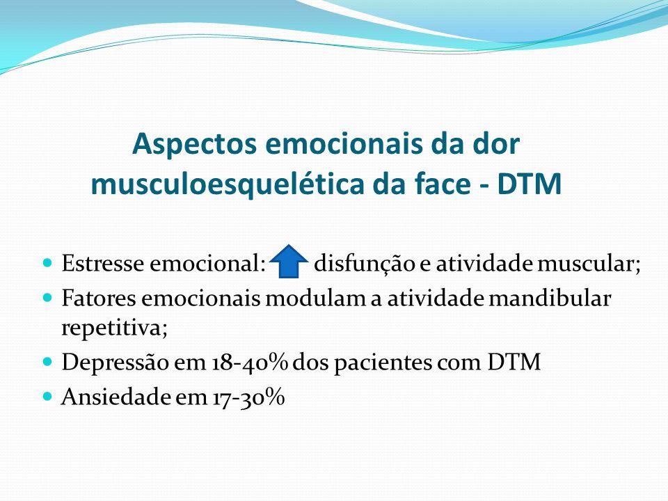 Aspectos emocionais da dor musculoesquelética da face - DTM