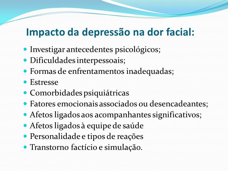Impacto da depressão na dor facial: