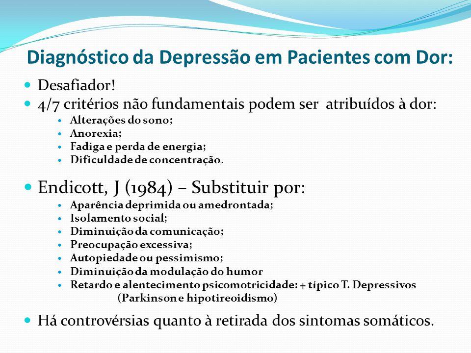 Diagnóstico da Depressão em Pacientes com Dor: