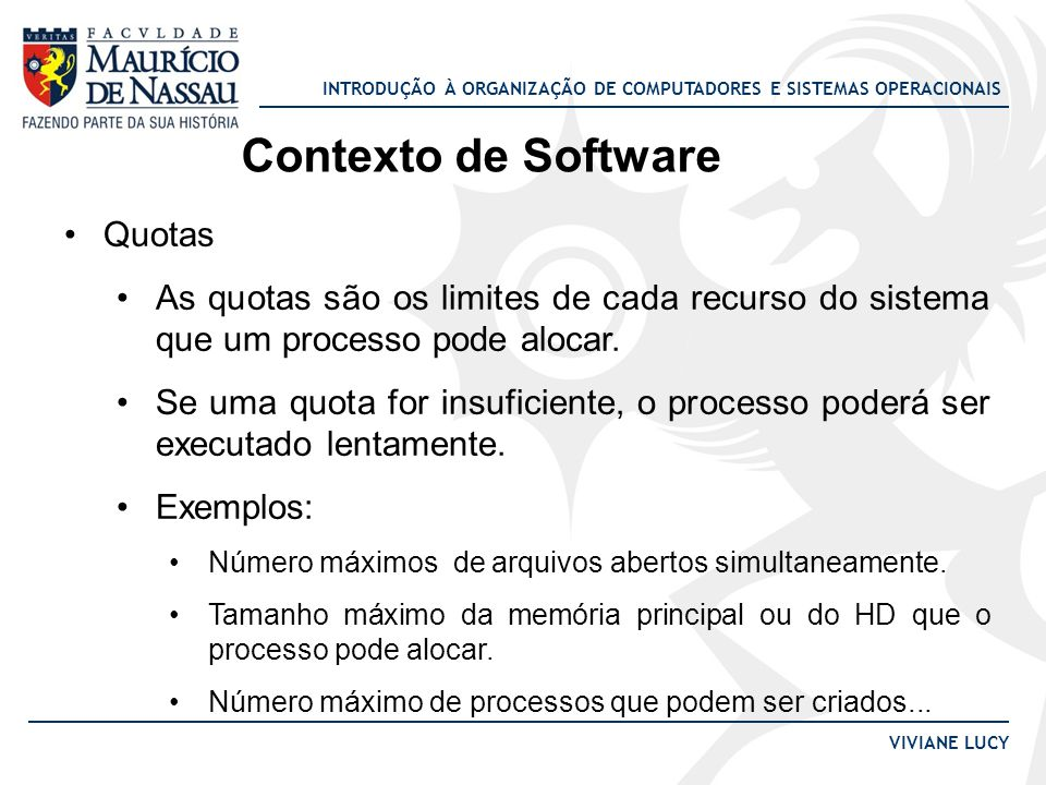Contexto de Software Quotas