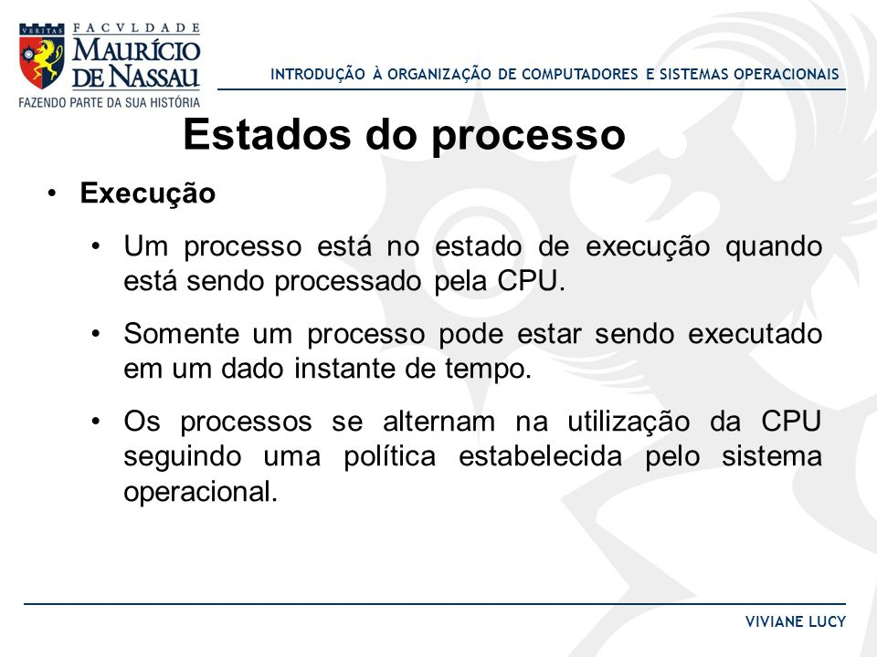 Estados do processo Execução