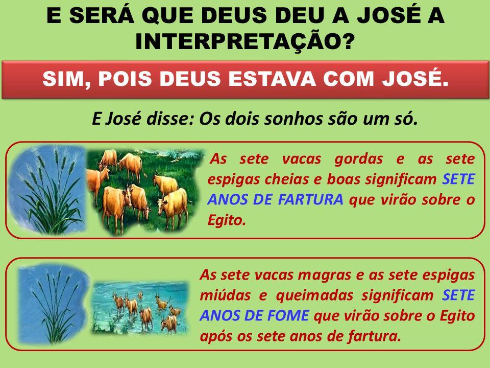 E SERÁ QUE DEUS DEU A JOSÉ A INTERPRETAÇÃO