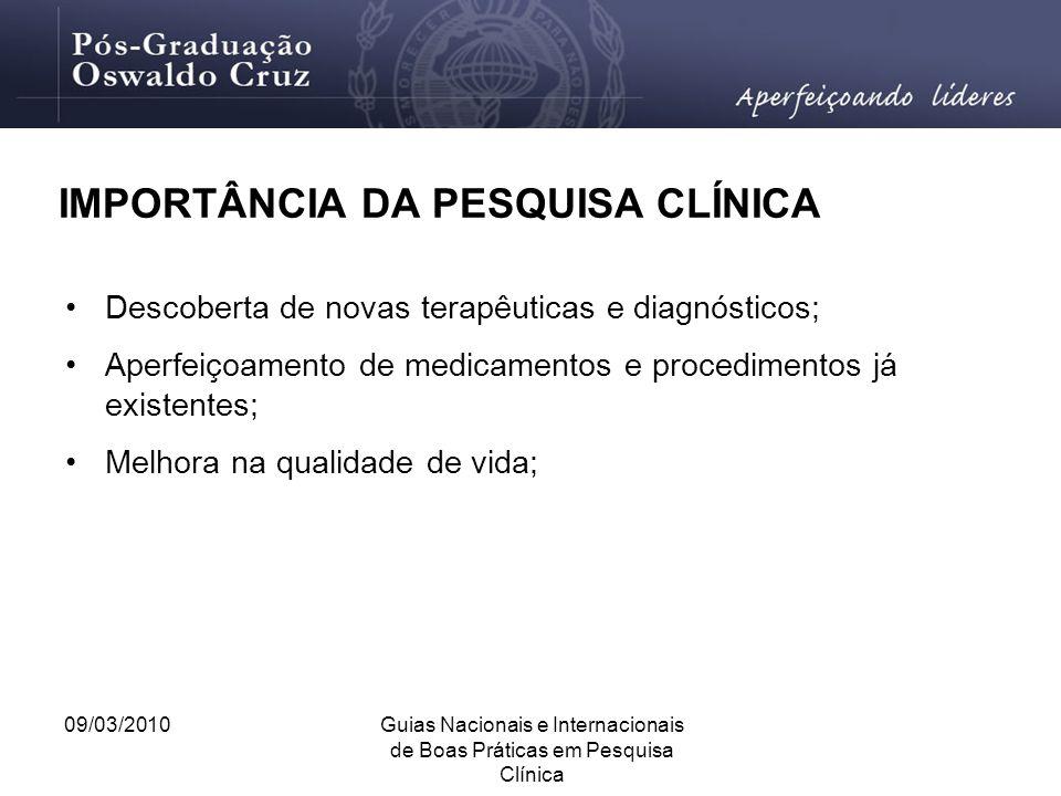 IMPORTÂNCIA DA PESQUISA CLÍNICA