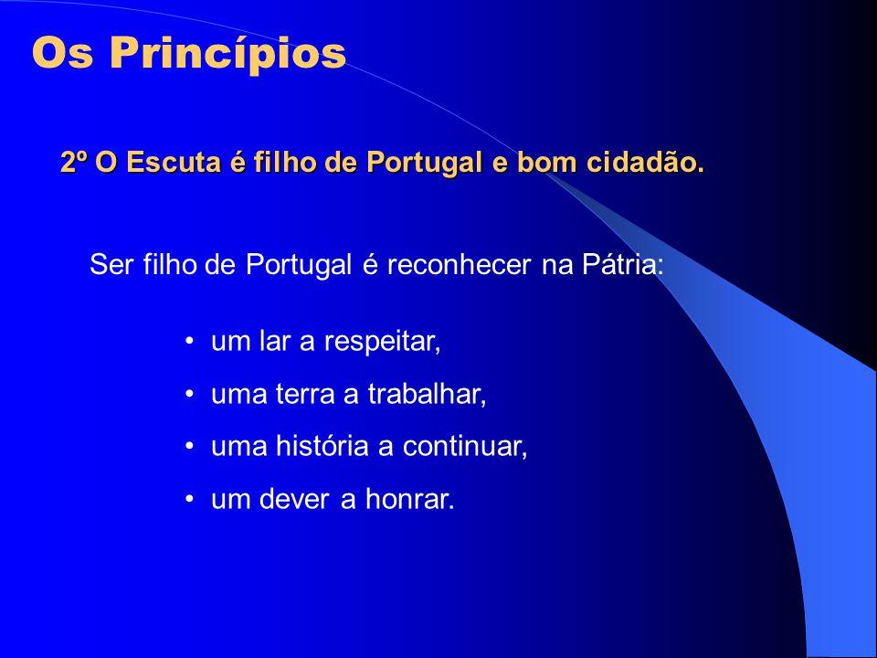 Os Princípios 2º O Escuta é filho de Portugal e bom cidadão.
