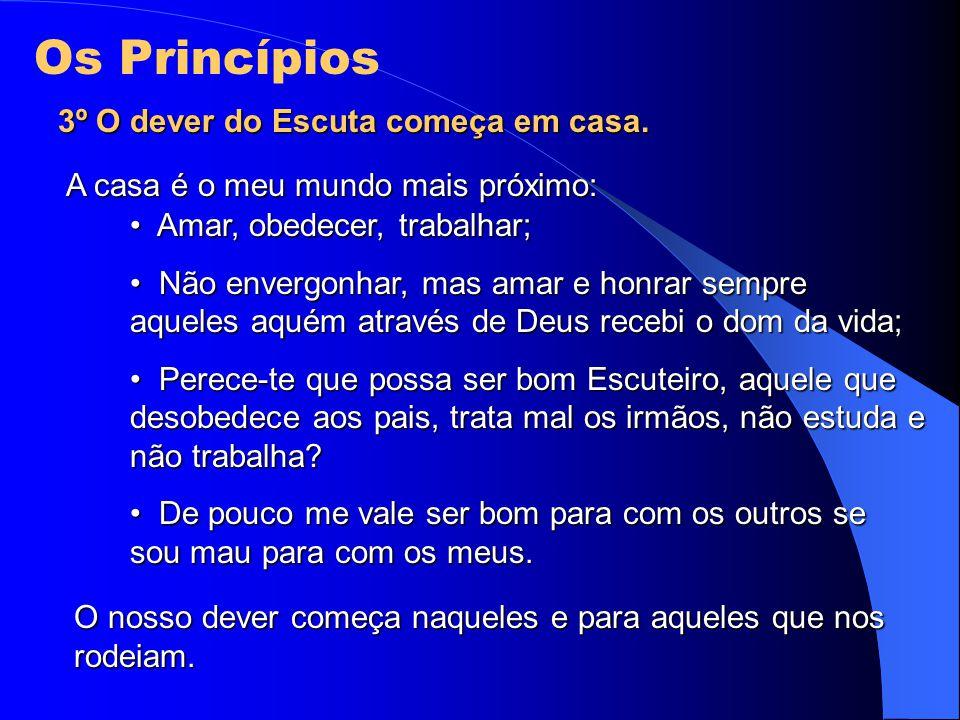Os Princípios 3º O dever do Escuta começa em casa.