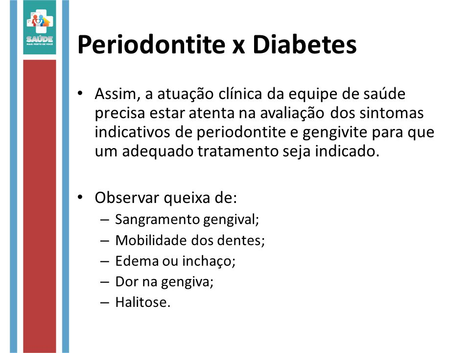 Periodontite x Diabetes