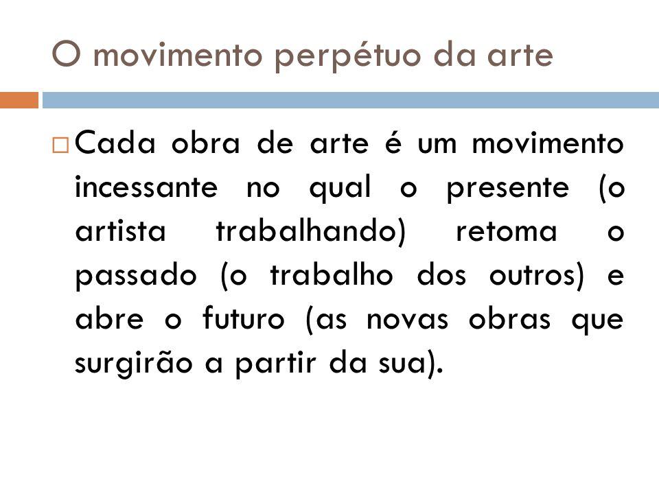 O movimento perpétuo da arte