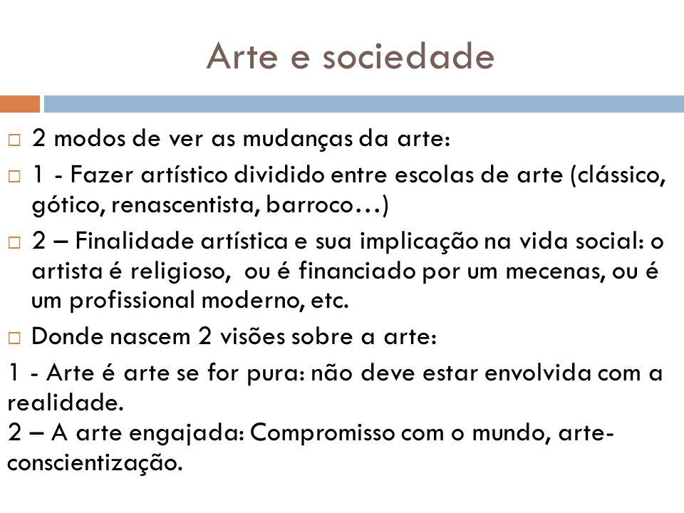Arte e sociedade 2 modos de ver as mudanças da arte: