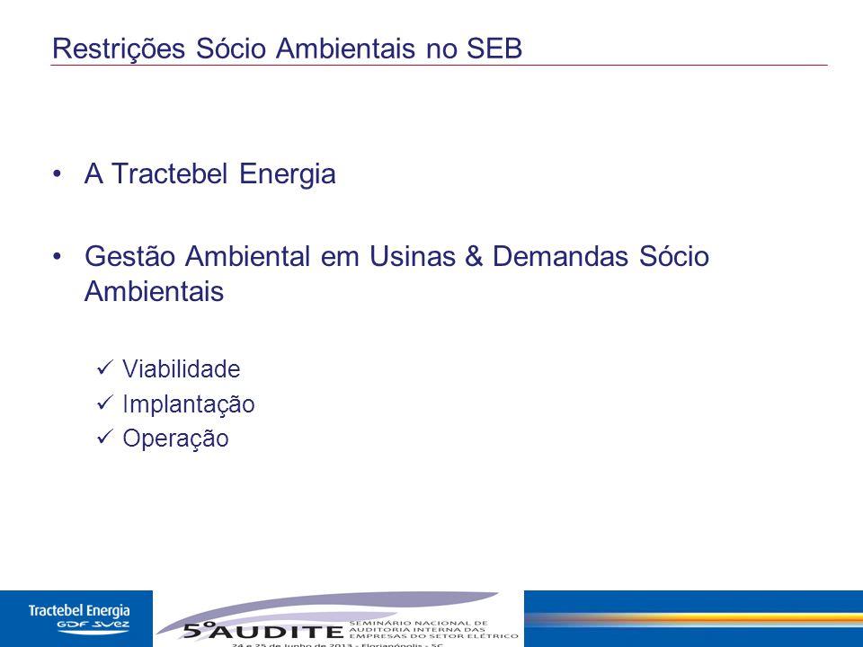 Restrições Sócio Ambientais no SEB