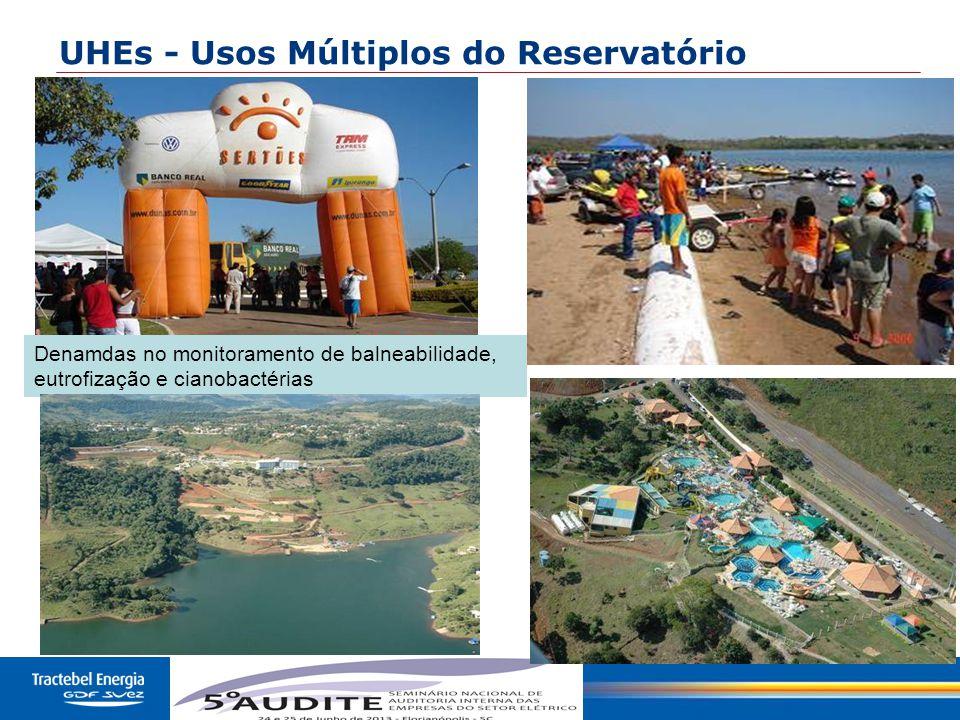 UHEs - Usos Múltiplos do Reservatório