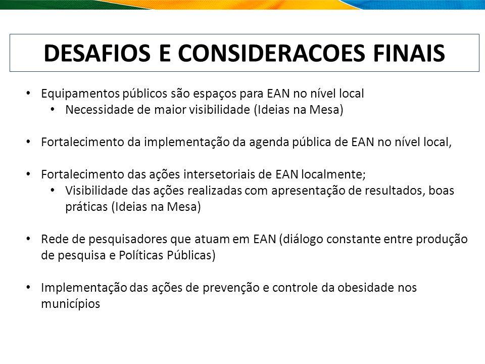 DESAFIOS E CONSIDERACOES FINAIS