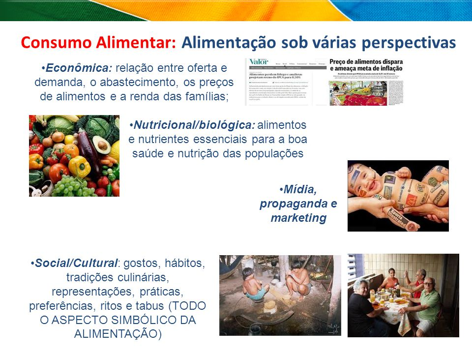 Consumo Alimentar: Alimentação sob várias perspectivas
