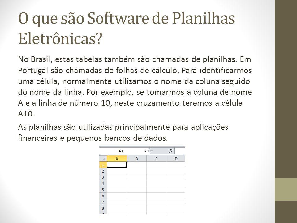 O que são Software de Planilhas Eletrônicas