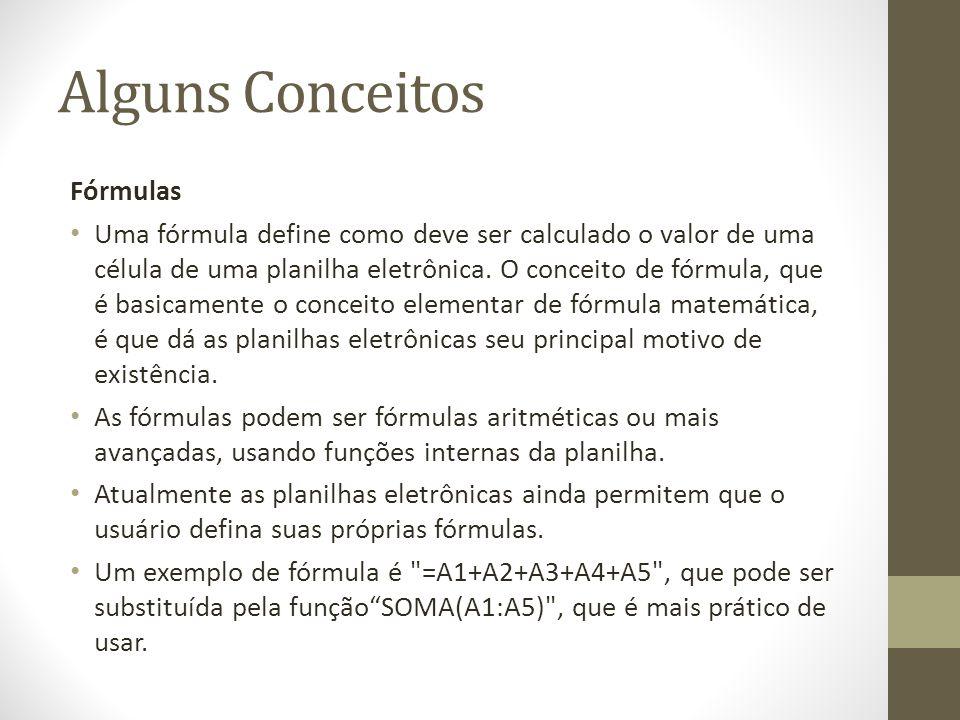 Alguns Conceitos Fórmulas