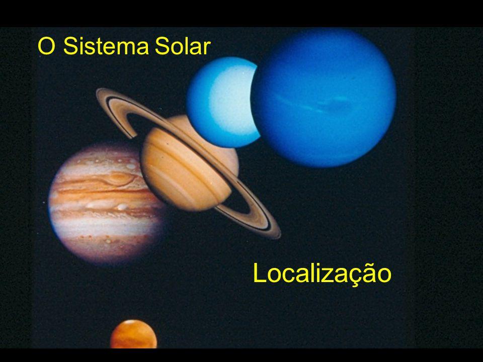 O Sistema Solar Localização