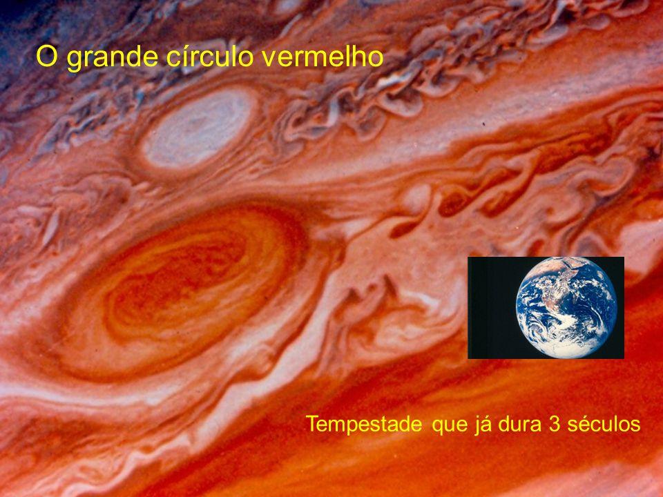 O grande círculo vermelho