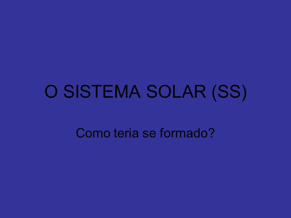 O SISTEMA SOLAR (SS) Como teria se formado