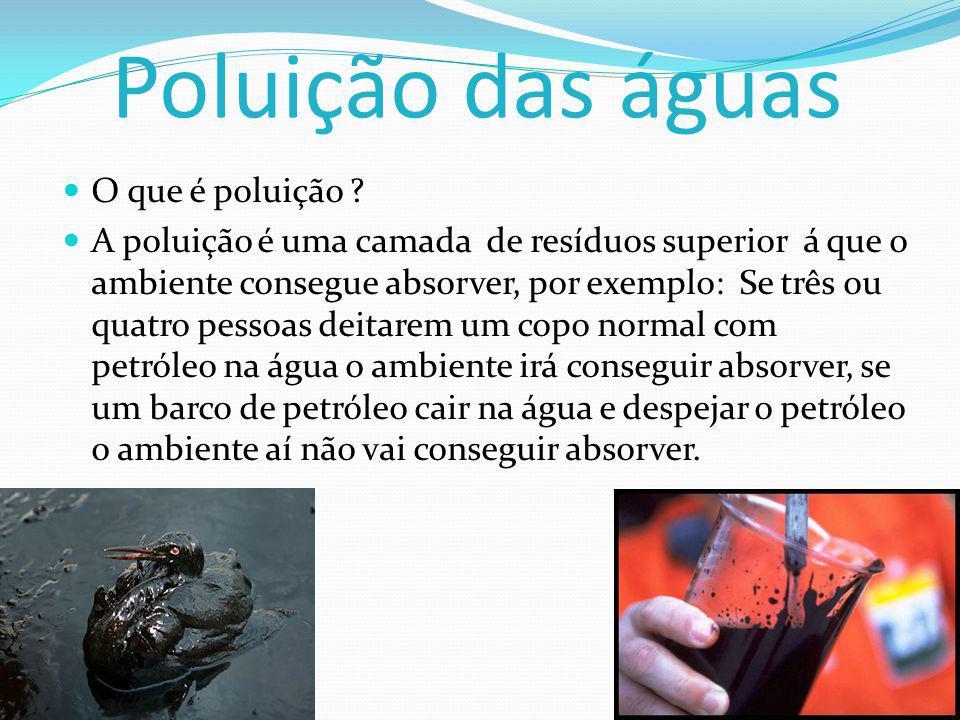Poluição das águas O que é poluição